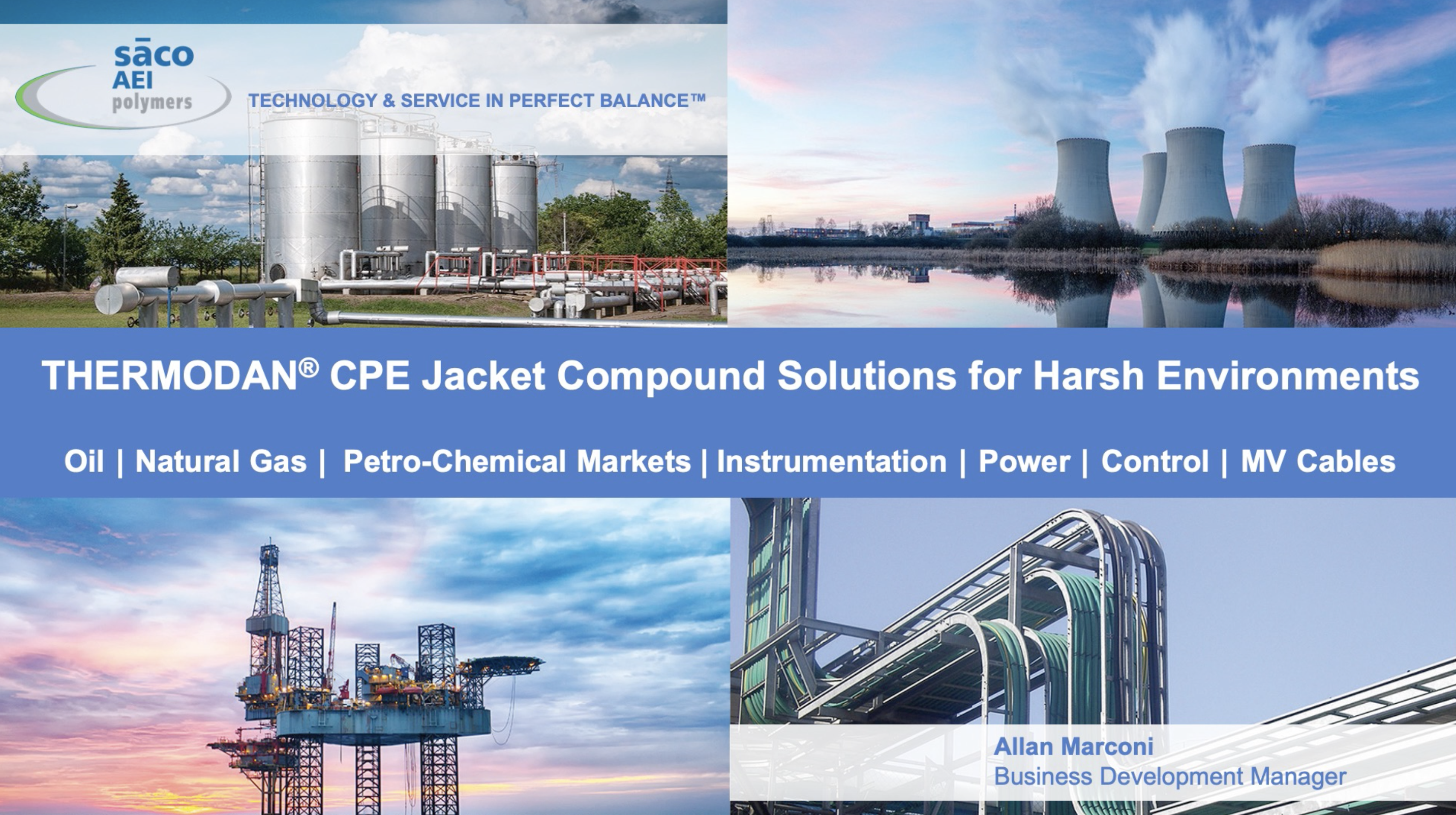 Thermodan CPE Jacket Compound Solutions for Harsh Environments