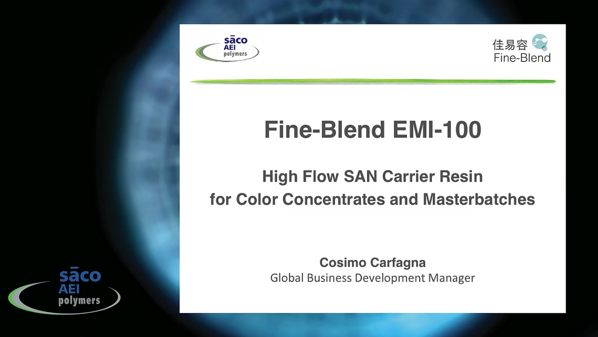 High Flow SAN Carrier Resins