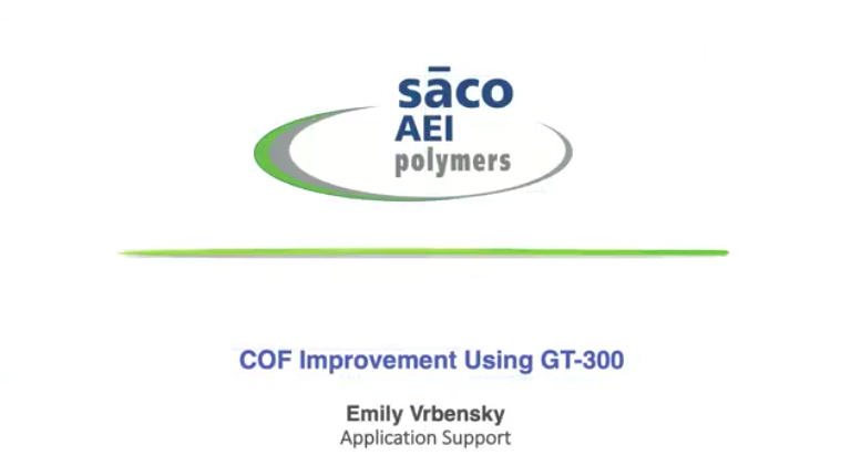 Coefficient of Friction Improvement Using GT-300
