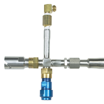Double Fill Adaptor w/Pressure Relief and Puritan Bennett Penox filling heads