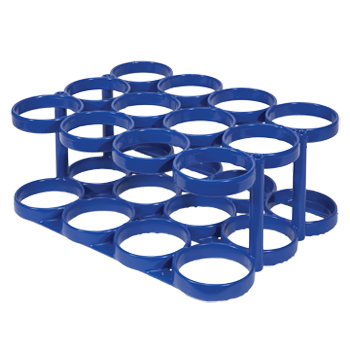 SALE! Rattle Less Rack   Holds 12 D/E Cylinders