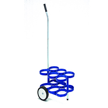 6 D/E Rattle Less Cylinder Cart