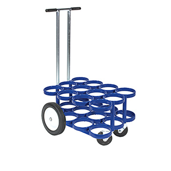 12 D/E Rattle Less Cylinder Cart