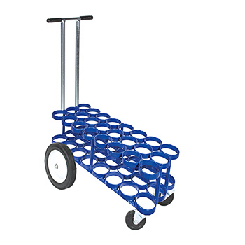 24 M6 Rattle Less Cylinder Cart