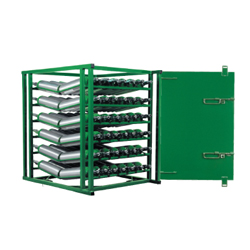 98 M6 Layered Cylinder Rack for Horizontal Storage with Door