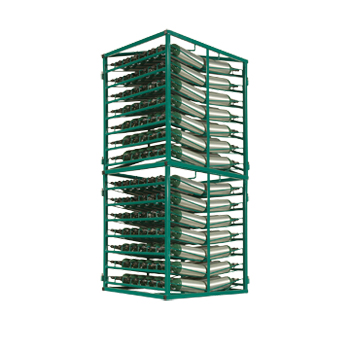 Layered Cylinder Rack for Horizontal Storage of M4/M6/B Holds 196