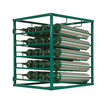 Layered Cylinder Rack for Horizontal Storage Holds 25 C/D/E