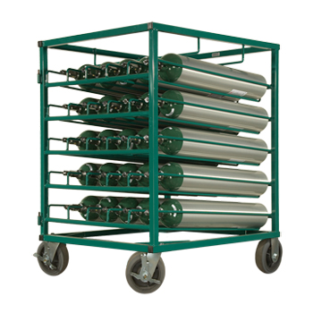 Layered Cylinder Rack for Horizontal Storage of 25 C/D/E Cylinders
