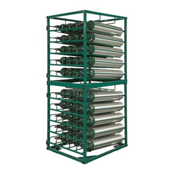Layered Cylinder Rack for Horizontal Storage of 50 C/D/E Cylinders