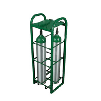 E Cylinder Rack with lockable lid Holds 4 Cylinders