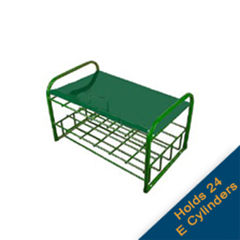 E Cylinder Rack with Lockable Lid   Holds 24 Cylinders