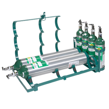 Clinician Cylinder Rack   Holds 3 C/D/E Cylinders and 4 M6 Cylinders