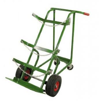 Heavy Duty Cylinder Delivery Cart w/Pneumatic Wheels