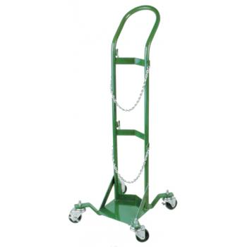 Rollling Cylinder Stand w/Dolly Style Handle and Casters