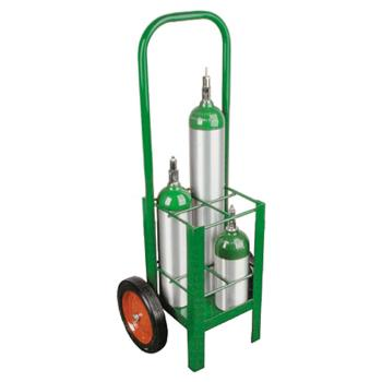 Cylinder Cart w/Two Wheels and Two Legs   Holds 4 M7/M9/C/D/E Cylinders
