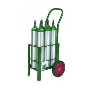 Cylinder Cart w/Two Wheels and Two Legs   Holds 6 E Cylinders