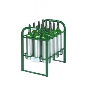 12 M6 Vertical Cylinder Rack w/Hold Down Bars and Feet