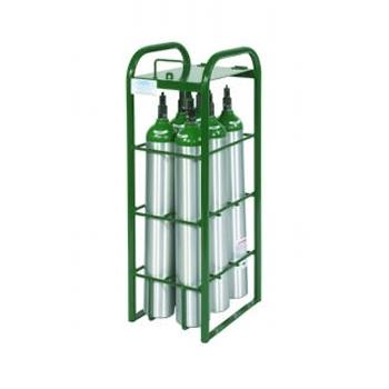 Cylinder Rack w/Lockable Lid   Holds 6 E Cylinders