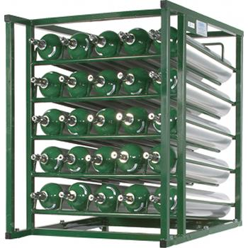 Layered Cylinder Rack for Horizontal Storage   Holds 25 D/E Cylinders