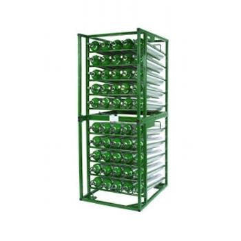 Layered Cylinder Rack for Horizontal Storage   Holds 50 D/E Cylinders