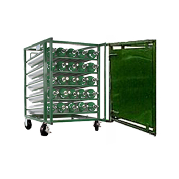 Layered Cylinder Cart for Horizontal Storage   Holds 25 D/E Cylinders