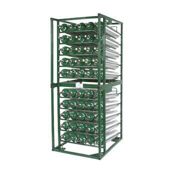 Horizontal Layered Cylinder Cart   Holds 50 D/E Cylinders