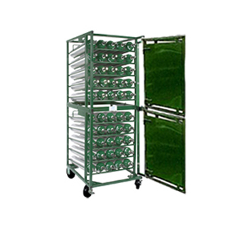 Horizontal Layered Cylinder Cart w/Door   Holds 50 D/E Cylinders