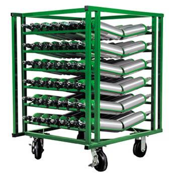 84 M6 Layered Cylinder Cart for Horizontal Storage