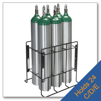 Patient Storage Rack   Holds 24 C, D and E Cylinders