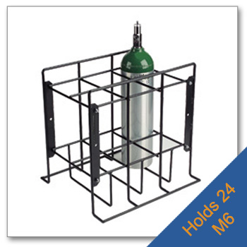 24 M6 Wire Patient Storage Rack