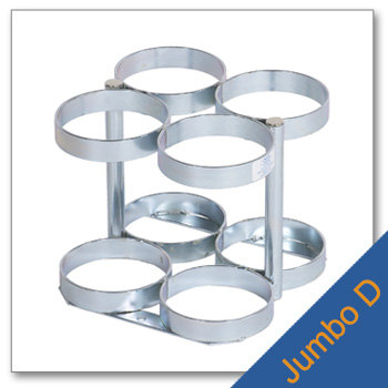 Jumbo D Cylinder Rack   Holds 4 Cylinders