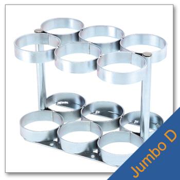 Jumbo D Cylinder Rack   Holds 6 Cylinder
