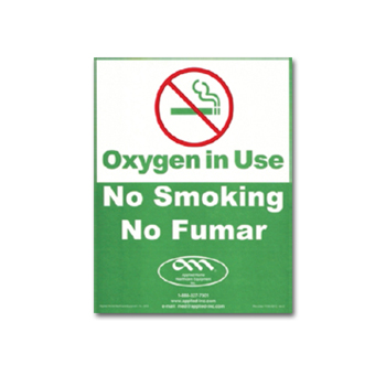 Oxygen in Use, No Smoking Sign   Pack of 25