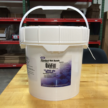 Super Bucket of Standard Size Cellulose Wet Bands (White)  Bucket of 11,500