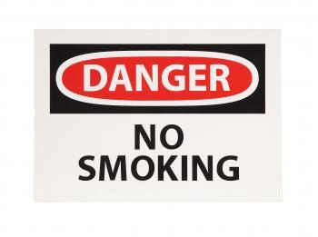 Self Adhesive InchesDanger No SmokingInches Sign