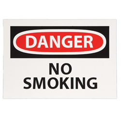 Self Adhesive Sign   Danger No Smoking