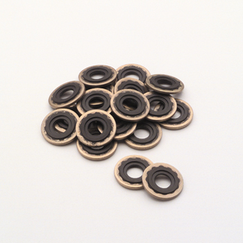 Brass and Viton Washers