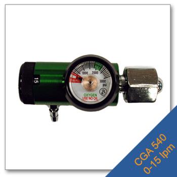 Mini Click Stop Regulator CGA 540: 0 15 lpm