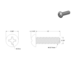 Replacement Screw for Valve Toggle, bag of 10