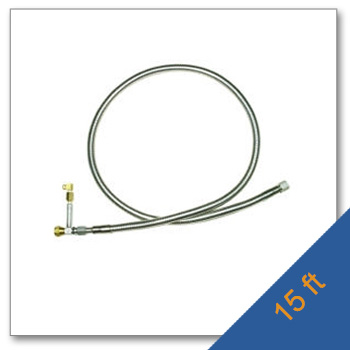 Cryogenic Transfer Hose with Safety T 15Feet