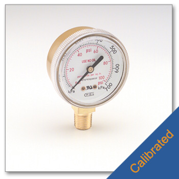 Replacement Low Pressure Gauge 0 to 100 psi Calibrated to NIST Standards