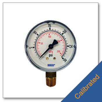 Low Pressure Gauge 2.5 inch Diameter Calibrated
