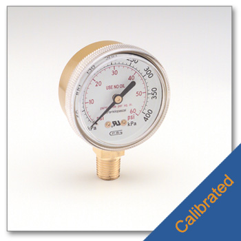 Replacement Low Pressure Gauge 0 to 60 psi Calibrated