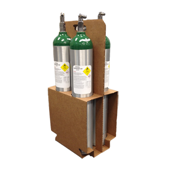 E Cylinder Box carries 4 cylinders, case of 10