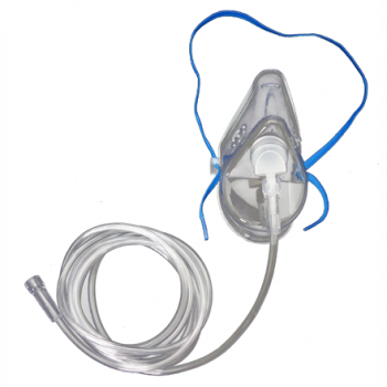 New! OxyGo Disposables Adult Oxygen Mask, 7ft Tubing