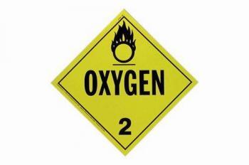 Mini Adhesive Oxygen Placard
