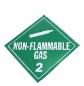 Vehicle placards, Non Flammable Gas placards