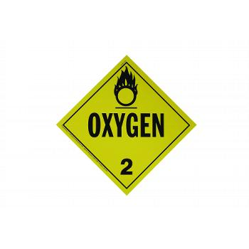 Oxygen Adhesive Placard