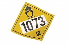 Rigid Plastic Oxygen UN 1073 Placard