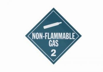 Mini Adhesive Non Flammable Gas Placard